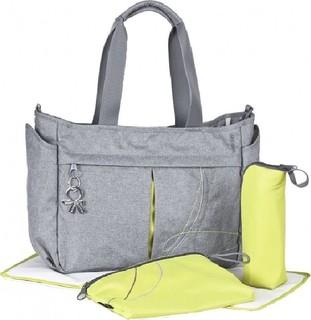 Okiedog Urban Metro Messenger Diaper Bag Grey