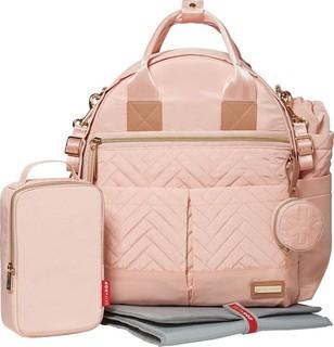 Skip Hop 6 Piece Suite Exclusive Diaper Backpack Set Blush Pink