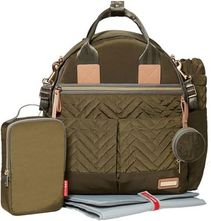 Skip Hop 6 Piece Suite Exclusive Diaper Backpack Set Olive