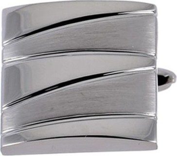 Philippe Moraly Cufflinks Stainless Steel For Men's Silver - PMS070W 159