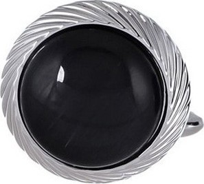 Philippe Moraly Cufflinks Stainless Steel For Men's Silver - PMS083W 159