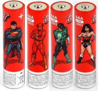 Kids Battery - Justice League 4 x AAA LR03 Alkaline
