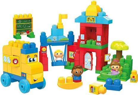 Mega Bloks First Builders Schoolhouse Friends Building Set