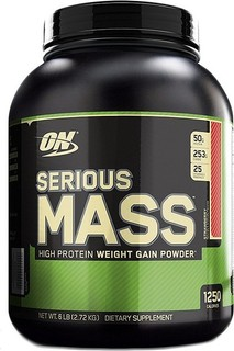 Optimum Nutrition Serious Mass Proteins Strawberry 6Lbs 95.0000