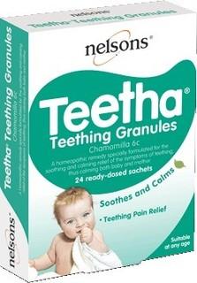 Nelsons Baby Teetha Teething Granules (24 Sachets)