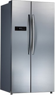 Midea 689 Ltr Side by Side Refrigerator Stainless Steel Finish HC689W - silver