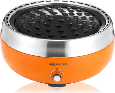 HOMPING SMOKELESS CHARCOAL GRILL ORANGE