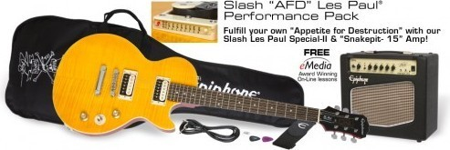 Epiphone guitar Slash AFD Les Paul Performance Pack