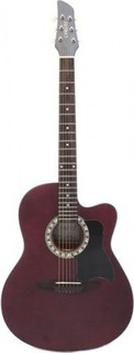 Carlos Acoustic Guitar C931WA - Satin Brown Top Dark Back - Include Free Soft Case