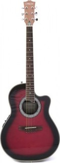 Carlos Guitar SP721 Semi Acoustic - Red - Include Free Soft Case