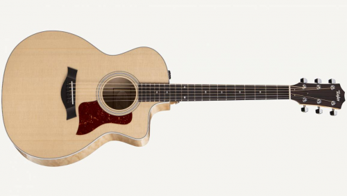 Taylor 214ce Deluxe Grand Auditorium - Natural - Quilt Maple Back And Sides - Include HardShell Case