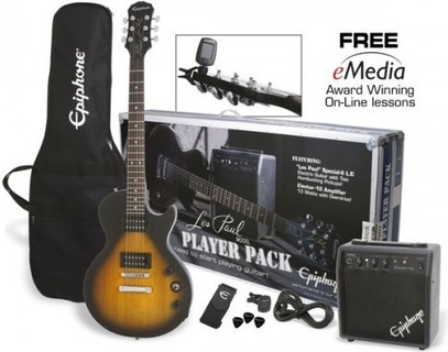 Epiphone guitar Les Paul Player Pack 10 Watts