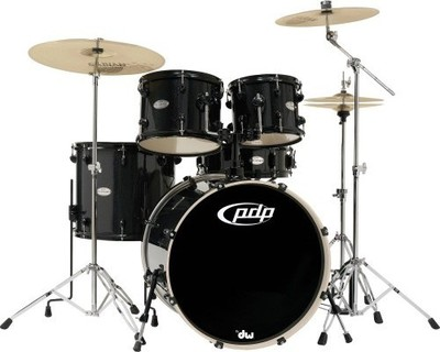 PDP(Pacific Dums Percussion) PDP Drum Mainstage Complete Kit - Black Metallic ( WITHOUT CYMBAL )