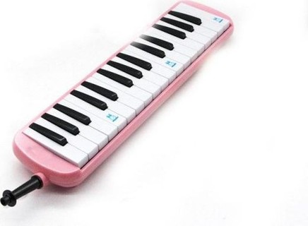 Other 32 Piano Keys Melodica Musical Instrument for Music Lovers Beginners Gift with Carrying Bag Pink