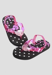 Hello Kitty Jelly Elastic Strap Flip Flop Infant - Black