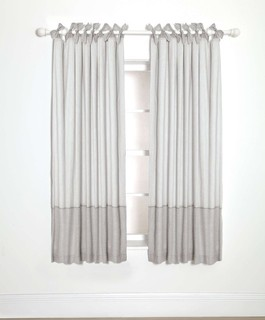 Lined Tie Top Curtains - Welcome to the World - 132 x 160cm