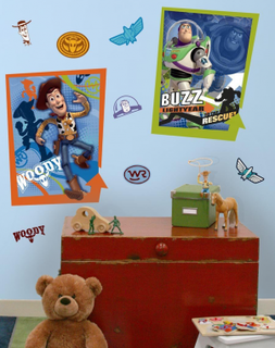RoomMates Toy Story Buzz Woody Peel and Stick Giant Poster