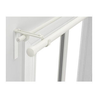 RAeCKA HUGAD Double curtain rod combination, white