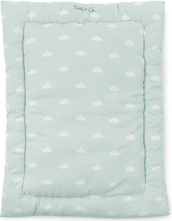 Childhome - Playpen Mattress Snoozy Clouds - Mint Blue