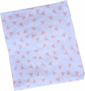 Joba - Cotton Percale Crib Fitted sheet - Coral Triangles