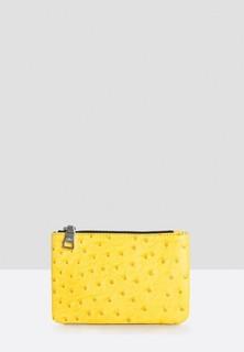 AITA Ostrich Print Wallet - Yellow