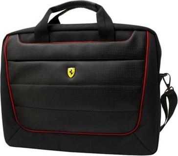 Ferrari New Scuderia Messenger Bag Universal Size 15 Black - FEMB15BK 179
