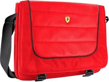 Ferrari New Scuderia Messenger Bag Universal Size 15 Inch Red - FEMB15RE 179