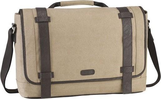 Targus Canvas Laptop City Fusion Messenger Bag 15.6 Inch Beige - TBM06401EU 325
