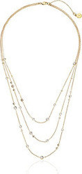 Michael Kors Gold Modern Brilliance Lobster Clasp Necklace for Women