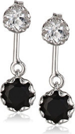 Fashion Jewellery Gemstone Combination Dangle and Stud Earrings in Sterling Silver for Women
