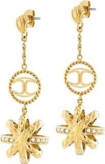 Just Cavalli Just Hurricane PVD Crystal Women's Earring Gold - SCAEN02 319