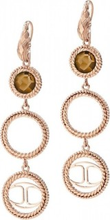 Just Cavalli Queen PVD Crystal Women's Earrings Rose Gold - SCABE14 335