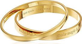 Kate Spade New York Idiom Gold-Tone Bangle Bracelet for Women