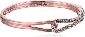 Kate Spade new york Pave Loop Clear Rose Gold-Tone Bangle Bracelet for Women