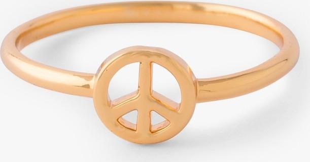 Orelia Mini Peace Sign Ring