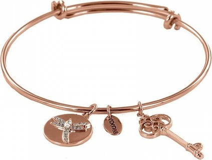 Coco88 Sense Zirconia Dragonfly Steel Women's Bangle Bracelet Rose Gold - B-10009-Rose 99