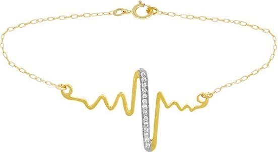 Teleios Luxe 18K Gold 0.06CT Diamonds Life Sign Bracelet - TL0000039 619