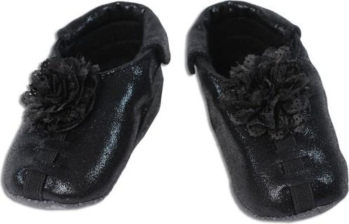 Shupeas Black Lace Flower Glitter (0-18 months)