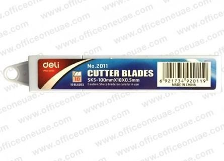 DELI 2011 Cutter Blades, SK5-100mmx18x0.5mm