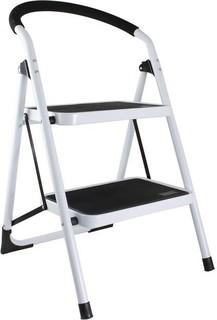 In-House 2 Step Ladder Black & White - LD-8707