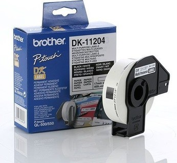 Brother DK-11204 - 17mm x 54mm Multi Purpose Labels [400 Roll]