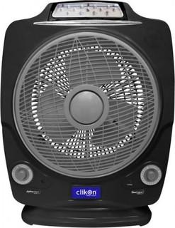 Clikon 12 Rechargeable Multifunctional Fan - Black CK2195