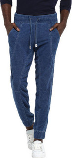 Mr Button Joggers with Light Wash, Blue