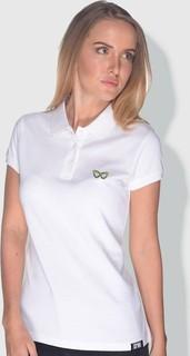 Creo Glasses Polo Shirt - White Bright Yellow & Black