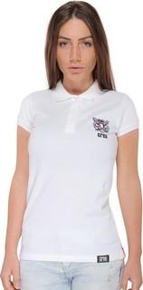 Creo Tiger Polo - White Pink & Blue