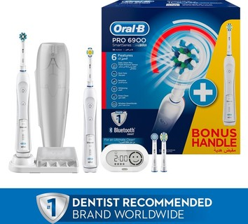 Oral B Oral-B PRO 6900 SmartSeries White Electric Rechargeable Toothbrush with Bluetooth Connectivity