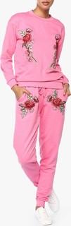 High Streets Pink Flower Patch Loungewear Set