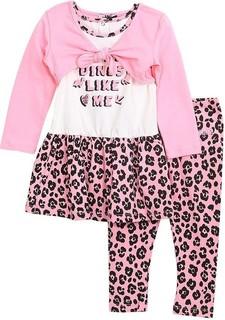 Moschino 3-piece Pink Casual Dress Bolero And Leggings Set