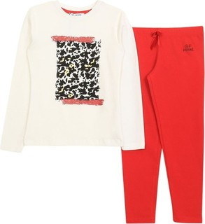 GF Ferr Ferre Red Set 2pcs Shirt And Leggings