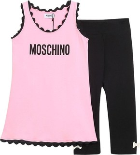 Moschino Set 2pcs Pink Shirt And Black Leggings